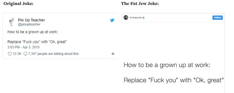 The Fat Jew allegedly steals jokes 02