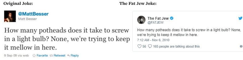The Fat Jew allegedly steals jokes 04