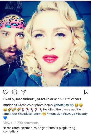 Sarah Silverman calls out the Fat Jew - Madonna MDNA