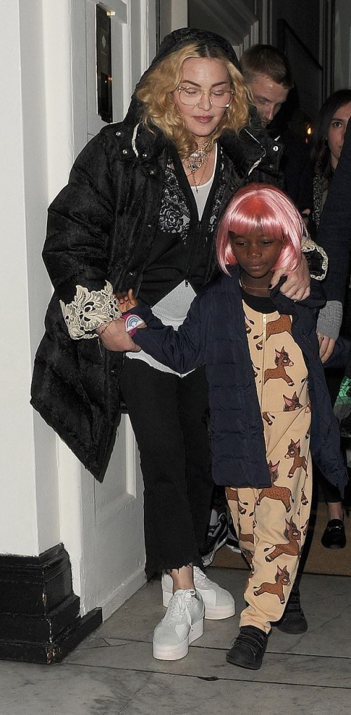 Madonna leaving Halloween party in London - 28 October 2018 (5)