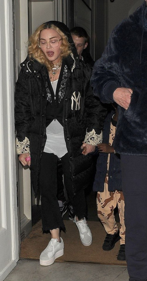Madonna leaving Halloween party in London - 28 October 2018 (4)
