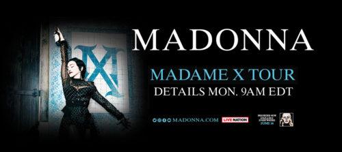 Madonna Madame X tour announcement - ad