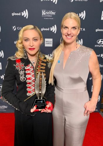 Madonna receives Advocate for Change Award at the 2019 GLAAD Media Awards - 4 May 2019 (1)