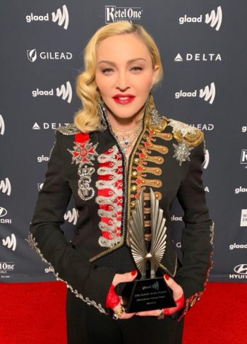 Madonna receives Advocate for Change Award at the 2019 GLAAD Media Awards - 4 May 2019 (3)
