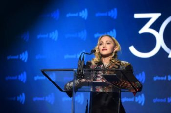 Madonna receives Advocate for Change Award at the 2019 GLAAD Media Awards - 4 May 2019 (4)