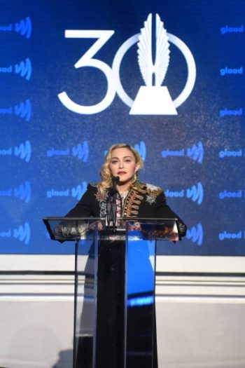 Madonna receives Advocate for Change Award at the 2019 GLAAD Media Awards - 4 May 2019 (5)