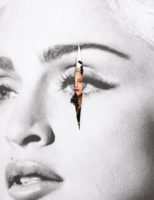 Madonna by JR for the New York Times