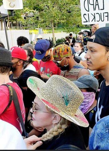 Madonna attends the Black Lives Matter protest in Los Angeles - 10 June 2020 - 01