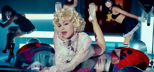 """Official Super Bowl and """"Give me all your Luvin'"""" pictures at Madonna.com"""