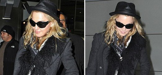 Madonna at JFK airport, New York [21 February 2012 – Pictures]
