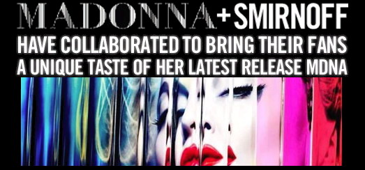 Smirnoff MDNA Nightlife Edition available in the USA & the UK