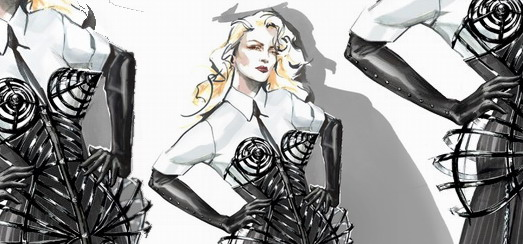 First Look at Madonna's Costumes for the MDNA Tour [Sketches, Pictures & Interviews]