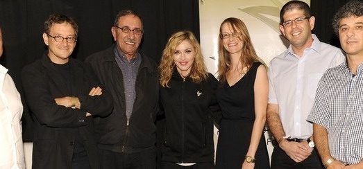Madonna meets with the founders of the Peace NGO Forum, Tel Aviv [30 May 2012]