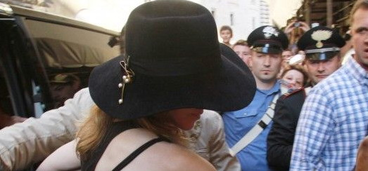 Madonna visiting the Uffizi Gallery, Florence [17 June 2012]
