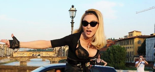 """Madonna on the set of """"Turn up the Radio"""" [19 June 2012 – Pictures]"""