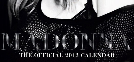 Official Madonna Calendar 2013 Cover Art Revealed