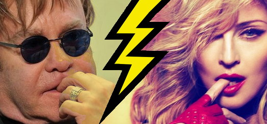 """Furious Elton John claims Madonna comments were """"off the record"""""""