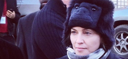 Madonna Visiting Sandy-Damaged Rockaways, New York [11 November 2012]