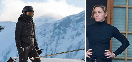Madonna spotted skiing in Gstaad, Switzerland [December 2012]