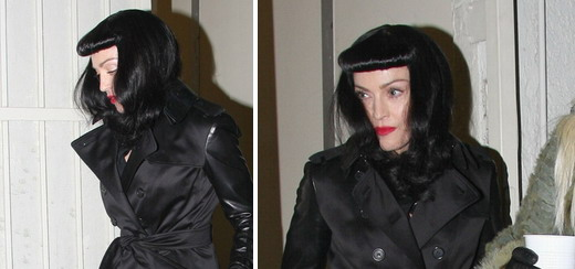 Madonna leaving the Purim party at the Kabbalah Centre, Los Angeles [23 February 2013]