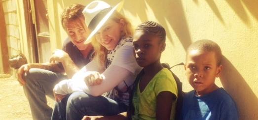 Madonna Visits J/P Haitian Relief Organization In Haiti