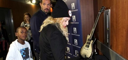 Madonna at the Grammy Charties Signings [25 January 2014 – Pictures]