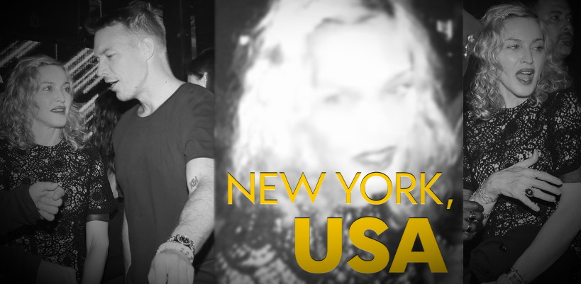 Madonna, Diplo and Skrillex at Jeremy Scott's after party at the Space Ibiza, New York [10 September 2014 - Pictures & Video]