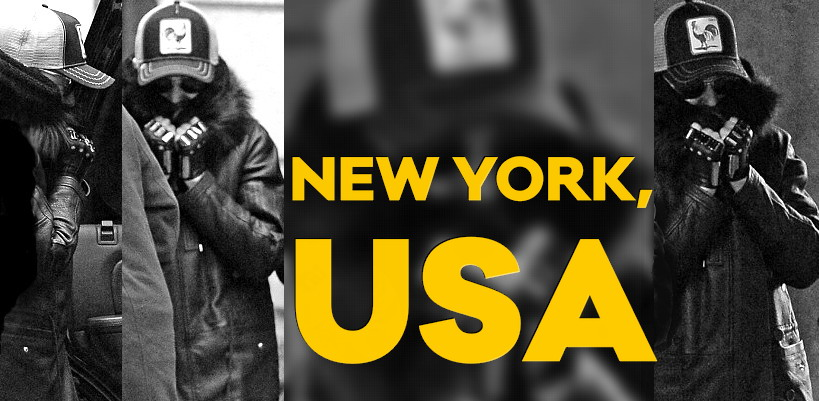 Madonna shows support to French people in the streets of New York [10 January 2015 – Pictures]
