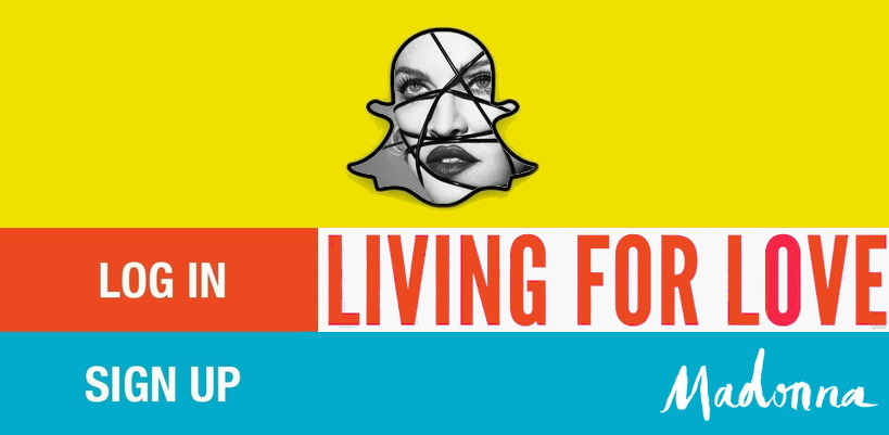 "Madonna will premiere the ""Living for Love"" video today on Snapchat"