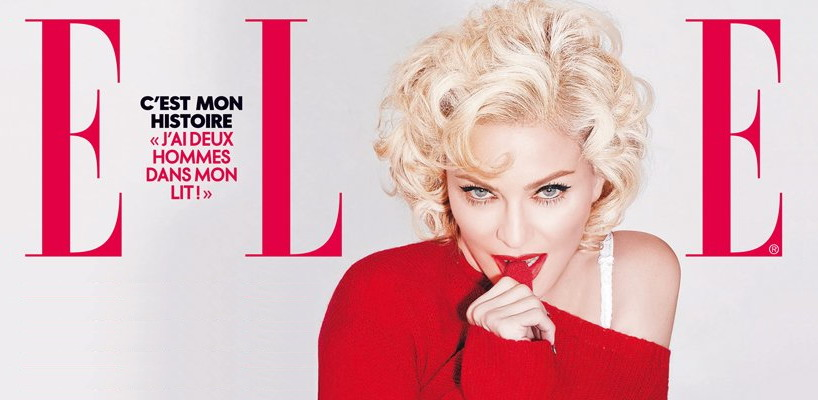 Madonna on the cover of ELLE France [31 December 2015 issue]