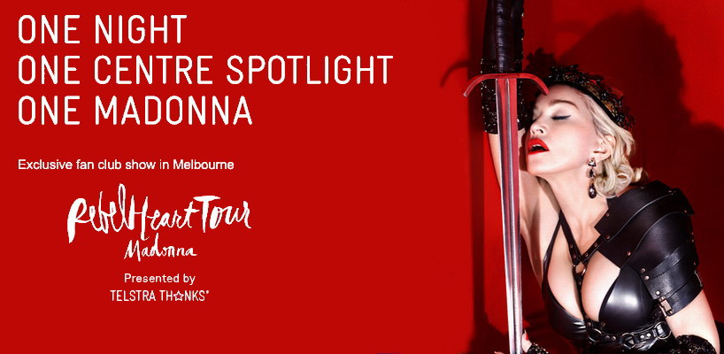 "Unique Fan Club Show ""MADONNA: TEARS OF A CLOWN"" in Melbourne"