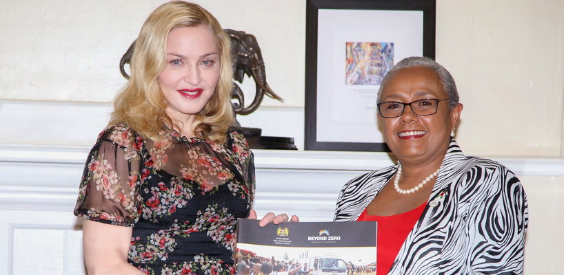 Madonna seeks partnership with First Lady's Beyond Zero initiative