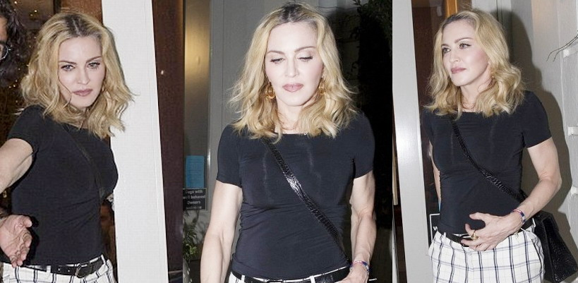 Madonna having dinner at Farmacy, London [13 September 2016 – Pictures]