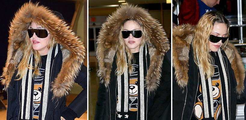 Madonna arrives at JFK Airport, New York [20 December 2016 – Pictures]