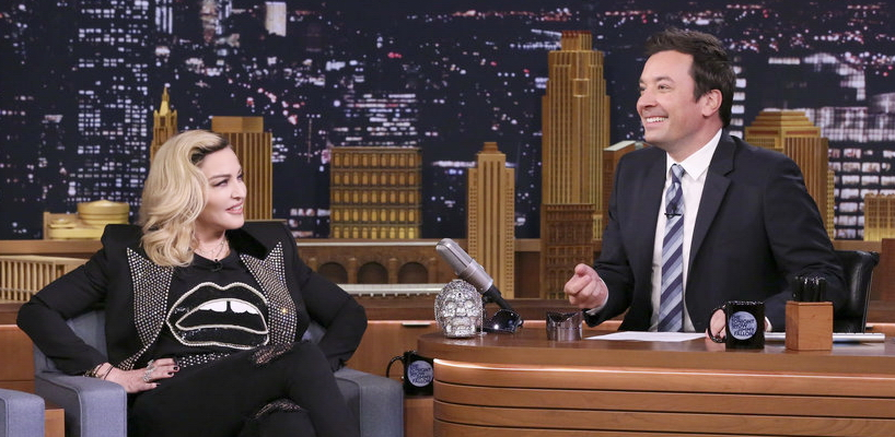 Madonna on The Tonight Show Starring Jimmy Fallon [Pictures & Videos - MDNA Skin]