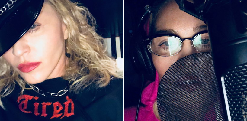 Madonna is back in the studio making music!