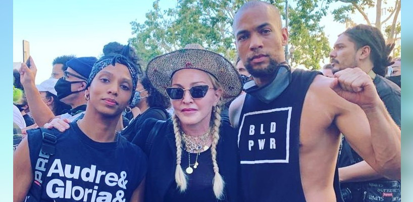 Madonna attends the Black Lives Matter protest in Los Angeles [10 June 2020 – Pictures]