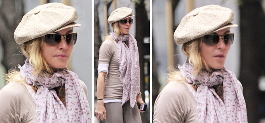 Madonna goes to the Kabbalah center, New York [24 September 2011]