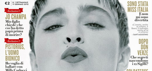 Madonna by Herb Ritts for Italian Vanity Fair [11 January 2012 Edition]