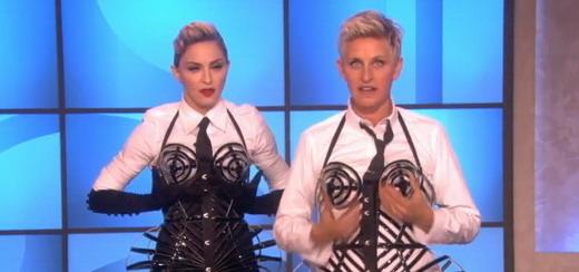 Madonna, Ellen DeGeneres et le corset en images