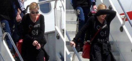 Madonna arrivant à l'aéroport Galeao de Rio de Janeiro [30 Novembre 2012]
