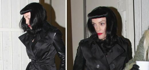 Madonna quitte la soirée Pourim au Centre de Kabbale à Los Angeles [23 février 2013]