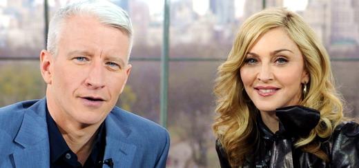 Madonna remettra un GLAAD award à Anderson Cooper