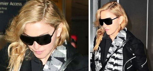 Madonna quitte l'aéroport JFK de New York [18 Novembre 2013 – Photos]