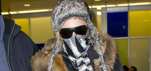 Madonna à l'aéroport de JFK, New York [21 janvier 2014 – Photos]