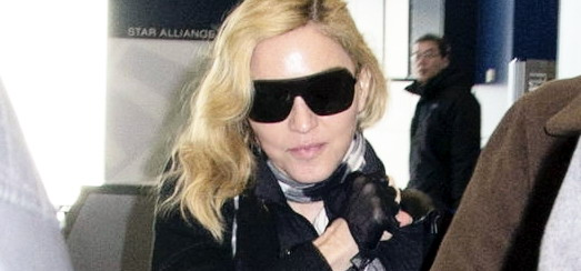Madonna à l'aéroport de JFK, New York [23 janvier 2014 - Photos]