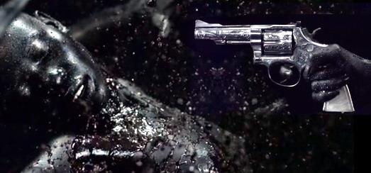 Les éléments de la projection Backdrop pour «Revolver» pour le MDNA Tour