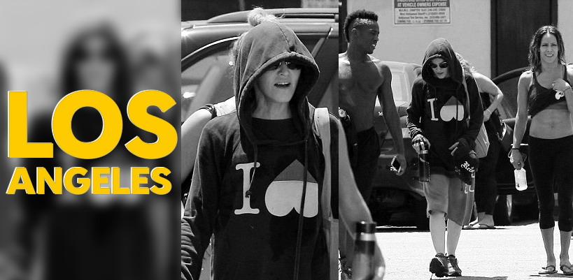 Madonna dans les rues de Los Angeles [2 juillet 2014 - Photos]