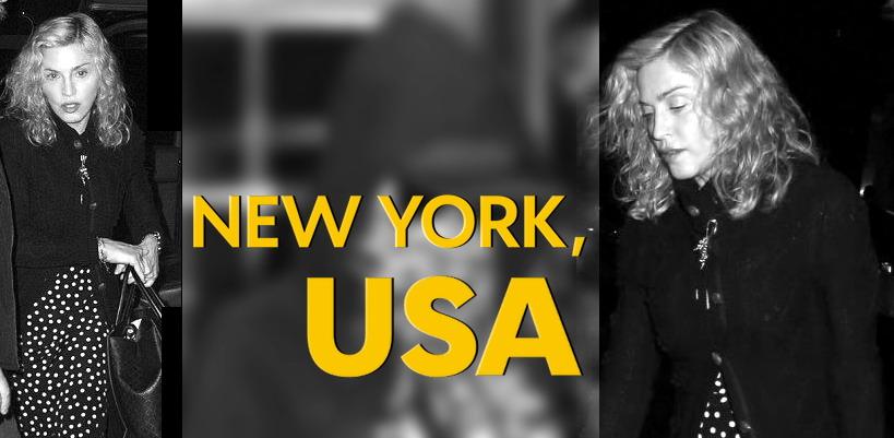 Madonna dans les rues de New York [3 Octobre 2014 – Photos]