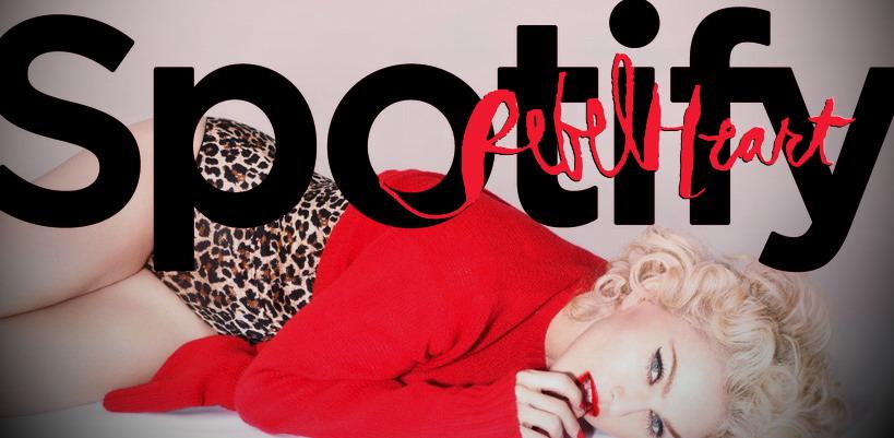 Madonna dans le Top 10 des morceaux les plus écoutés sur Spotify